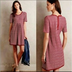 Anthropologie - Maeve Textured Short Sleeve Dress